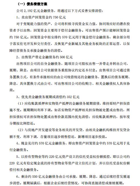 天游平台注册地址2192亿债务如何清偿?刚刚,华夏幸福发布重要公告!