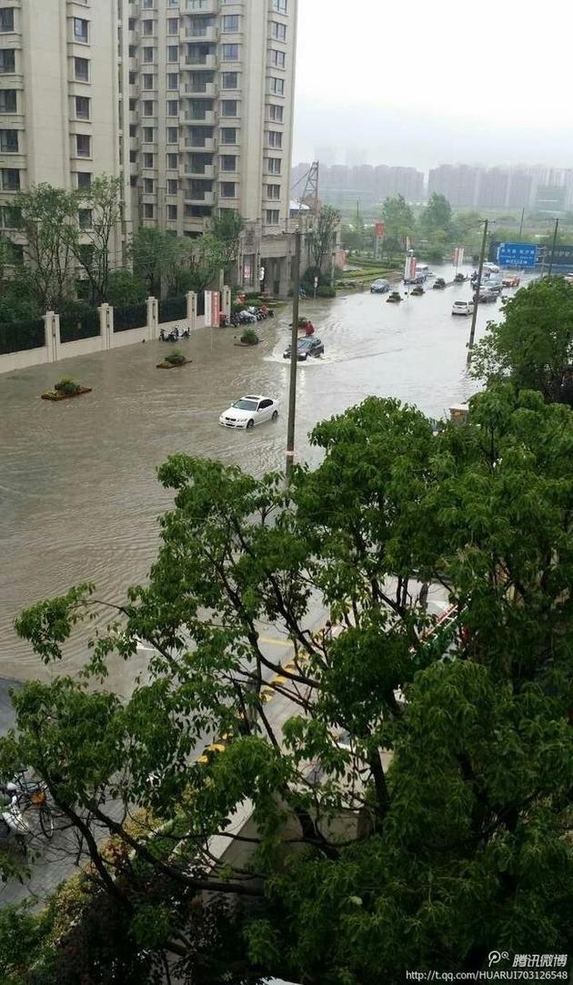 上海部分街道积水内涝.图片