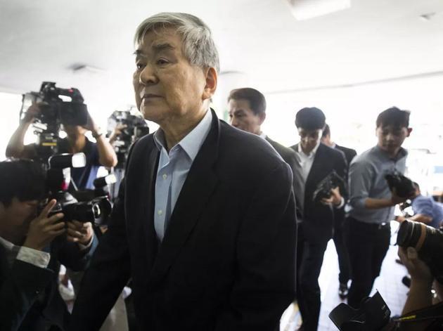 韩进集团总裁赵亮镐(图片来源:视觉中国)