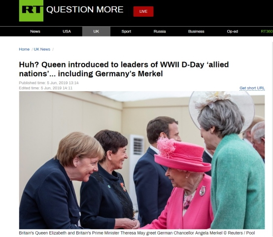"""英国王室官方社交账号闹乌龙:误将德国称为二战""""盟友"""""""