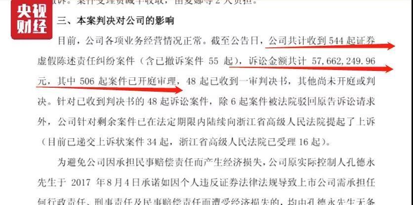 据了解,目前还有数百位投资者起诉材料已提交浙江杭州中院,目前处于诉前调解阶段。