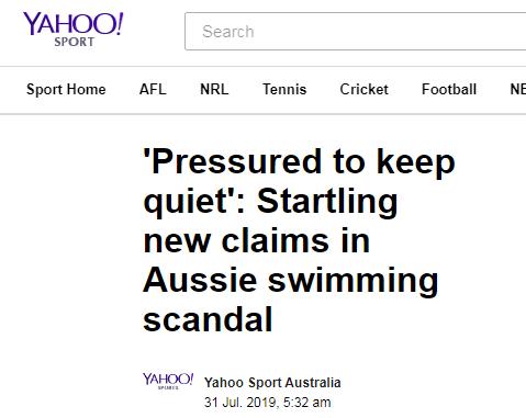 """澳泳协""""甩锅""""被怼?澳媒:澳游泳涉药队员被泳协要求保持沉默"""