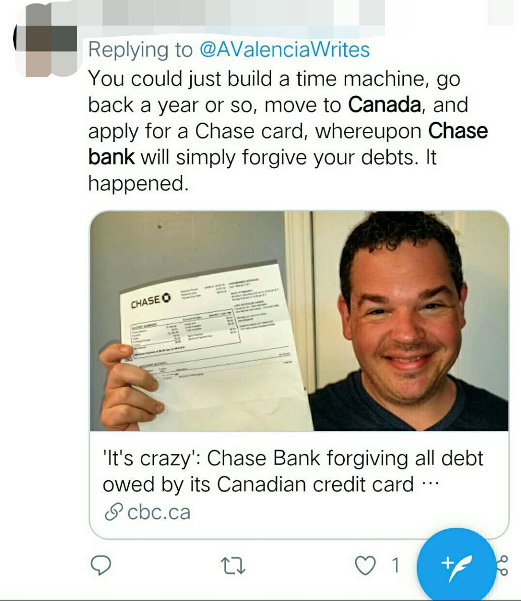 就连他最新的300美元还款也将会退还给他