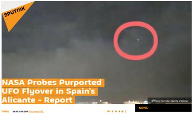 西班牙雷暴天惊现UFO?美国航空航天局很感兴趣:求视频