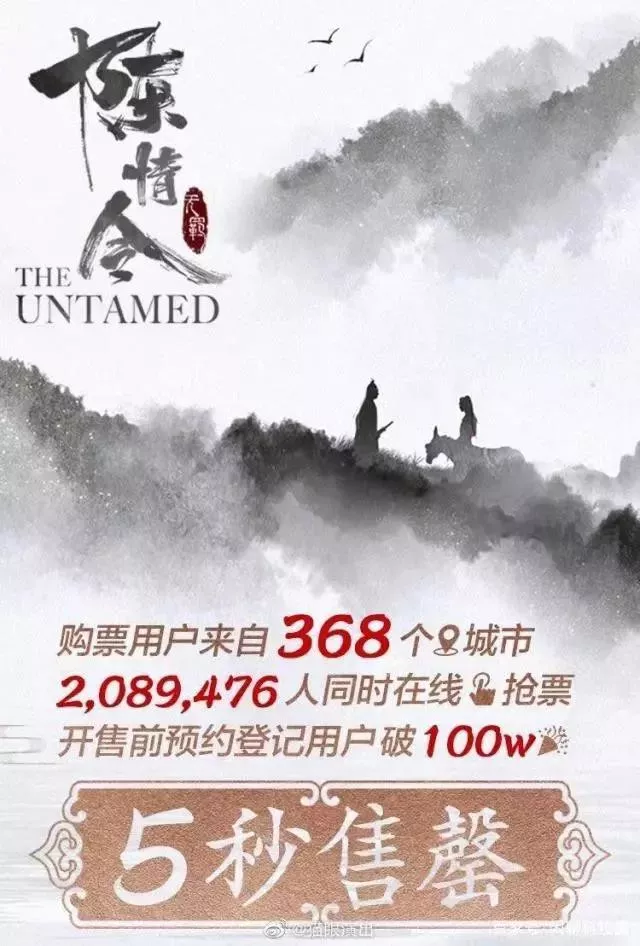 """""""《陈情令》演唱会卖疯了!200万人抢票,黄牛最高喊价15万元/张"""