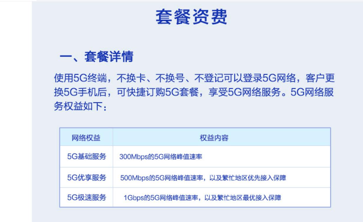 """5G套餐收费详情出炉:最低月租128元起 上网""""低价低速,高价高速"""""""