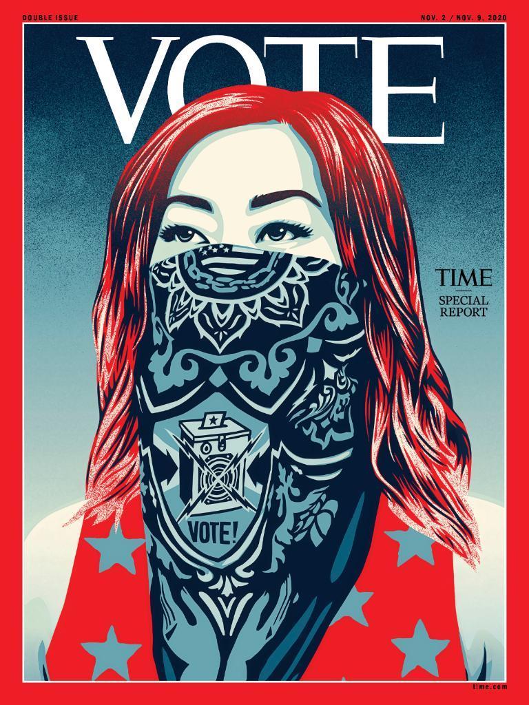 "<b>罕见!美国《时代》创刊近100年来首次换Logo:""时代""二字改为""投票""</b>"