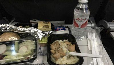 每經記者在美國——美國航空經濟艙飛機餐圖片