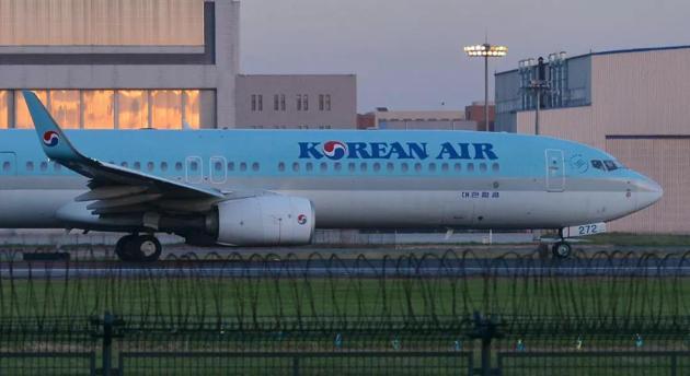大韩航空客机(图片来源:视觉中国)