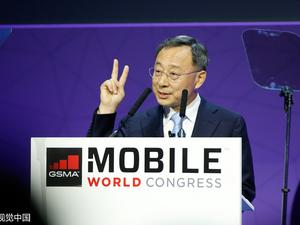 当地时间2017年2月27日,西班牙巴塞罗那,2017世界移动通信大会开幕,各品牌争相亮相。