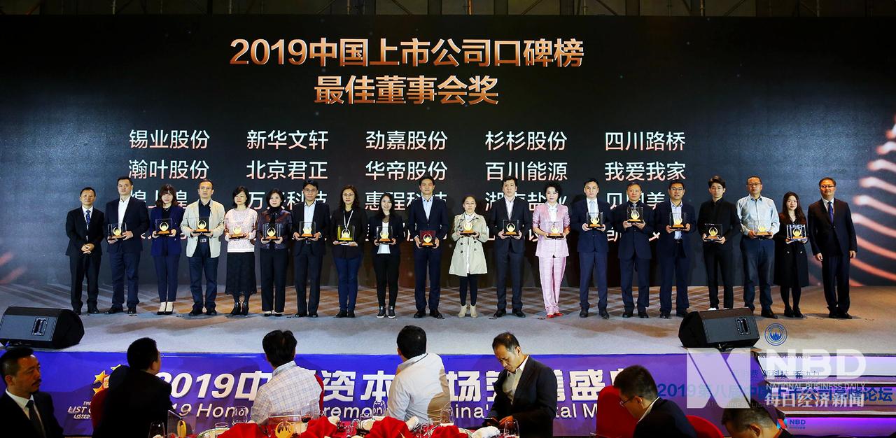 2019年中国上市公司口碑榜 最佳董事会奖