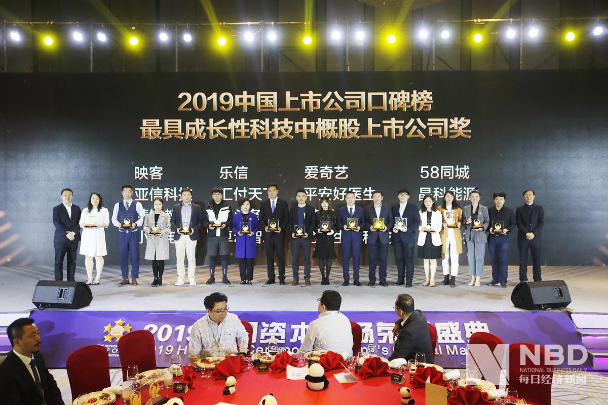 2019年中国上市公司口碑榜 最具成长性科技中概股上市公司奖