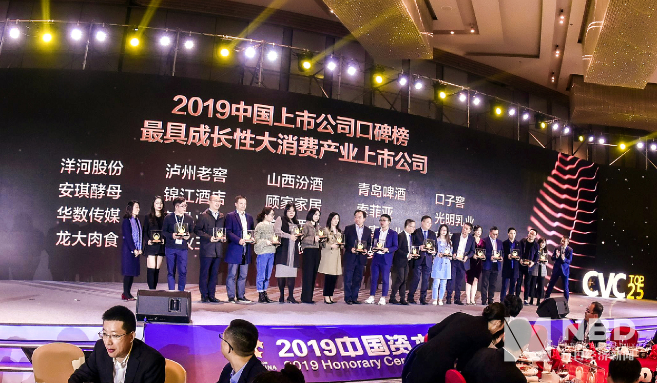 2019年中国上市公司口碑榜 最具成长性大消费产业上市公司奖